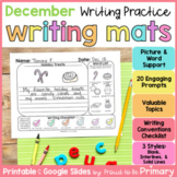 December Writing Prompts Practice Mats