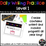 Daily Writing Practice - Resource/Special Education & Lowe