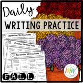 Daily Writing Practice Fall Theme