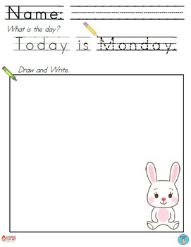 Daily Writing Printables - 10 Versions for Differentiation!