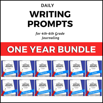 Daily Writing Prompt Journal - ONE YEAR BUNDLE