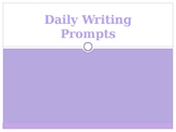 Daily Writing Prompts Freebie