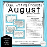 #TPTfireworks Daily Writing Prompts - August Edition