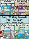 365 Daily Writing Prompts For The Year Bundle - Themed Journal Pages Grades 3-5