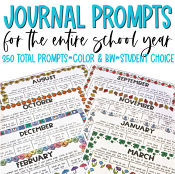 Daily Writing Prompts For the Entire Year