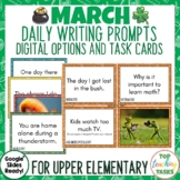 Daily Writing Prompts March St. Patricks Day Earth Hour Po