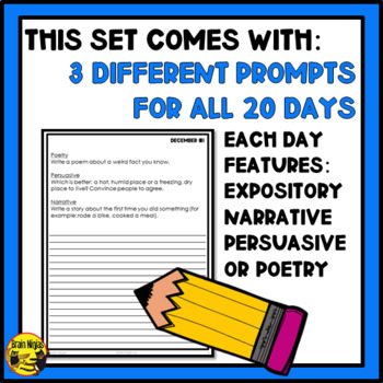 Daily Writing Prompts-December