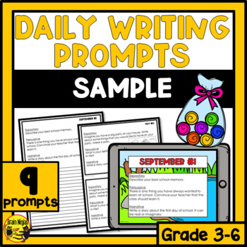Daily Writing Prompts Month by Month - SAMPLER