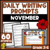November Writing Prompts | Paper or Digital