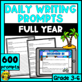 Daily Writing Prompts Month by Month-Whole Year