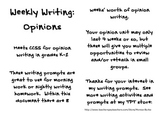 Daily Writing Prompts: Opinions