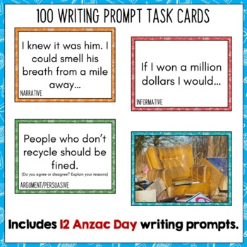 Daily Writing Prompts April NZ PowerPoint, Journal and Worksheet