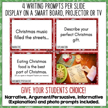 Daily Writing Prompts December NZ PowerPoint, Journal and Worksheet