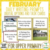 Daily Writing Prompts February Waitangi Day NZ PowerPoint,