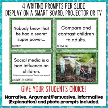 Daily Writing Prompts - July NZ PowerPoint, Journal and Worksheet