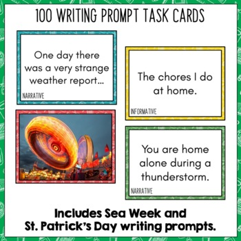 Daily Writing Prompts March NZ - PowerPoint, Journal and Worksheet