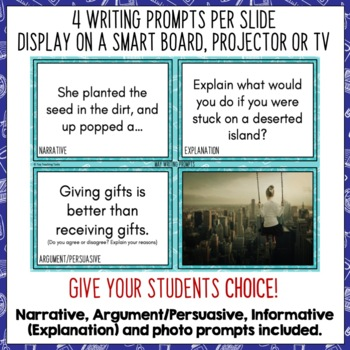 Daily Writing Prompts May NZ PowerPoint, Journal and Worksheet