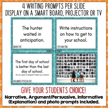 Daily Writing Prompts November NZ PowerPoint, Journal and Worksheet
