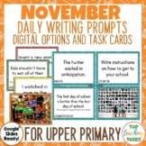 Daily Writing Prompts November NZ PowerPoint, Journal and