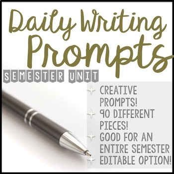 Daily Writing Prompts- SEMESTER EDITION - Part I