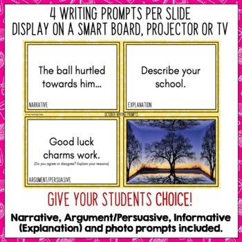 Daily Writing Prompts October NZ PowerPoint, Journal and Worksheet