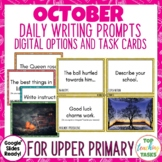Daily Writing Prompts October NZ PowerPoint, Journal and W