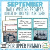 Daily Writing Prompts September PowerPoint, Journal, Works
