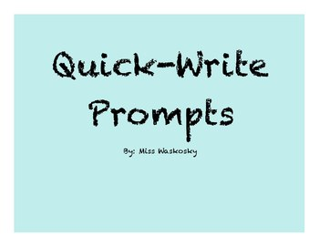 Daily Writing Prompts (September to November)