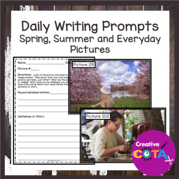 Daily Writing Prompts Spring, Summer and Everyday Pictures