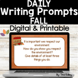Daily Writing Prompts - Upper Elementary - Fall