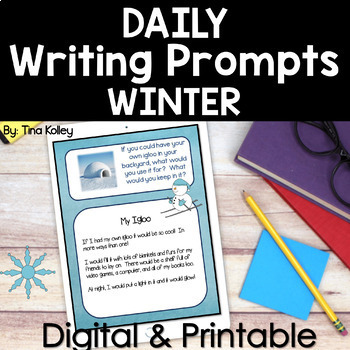Daily Writing Prompts - Upper Elementary - Winter