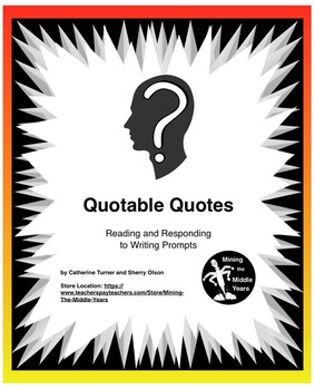 Daily Writing Prompts Using Famous Quotations