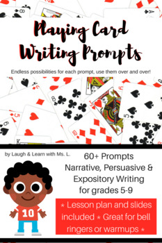 Daily Writing Prompts Using Playing Cards