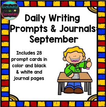 Daily Writing Prompts and Journals- September Set
