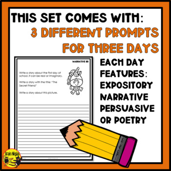 Daily Writing Prompts by Genre - Free Sample