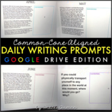 Daily Writing Prompts for Distance Learning Google Drive