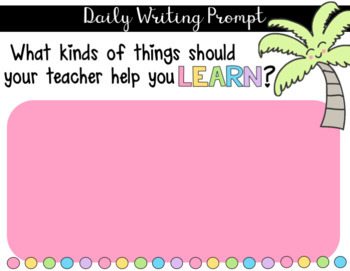 Daily Writing Prompts for Google Drive