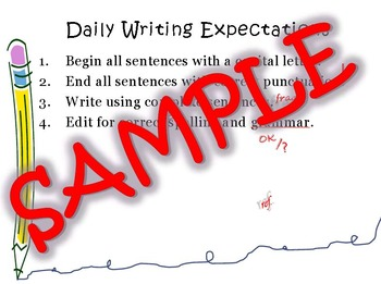 Daily Writing & Reading Expectations Poster