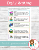 Daily Writing Task Cards Centers w/ brainstorming ideas 18