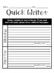 Daily Writing Template