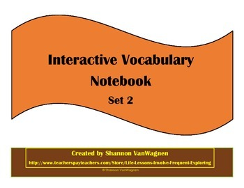 Daily Writing Vocabulary Interactive Notebook Building Fluency