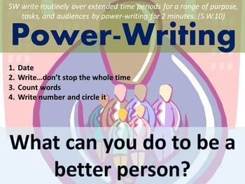Daily Writing Warm Up - Power Writing
