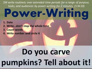 Daily Writing Warm Up - Power Writing 2 (BONUS holiday prompts)