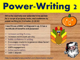 Daily Writing Warm Up - Power Writing 2 (BONUS holiday prompts)