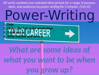 Daily Writing Warm Up - Power Writing 3!!!
