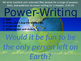 Daily Writing Warm Up - Power Writing 3!!!