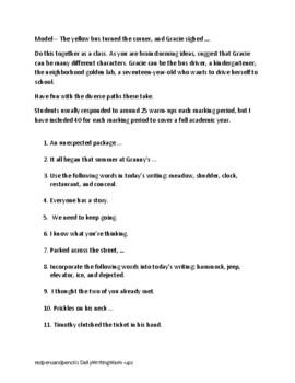 Daily Writing Warm-Ups / Exercises