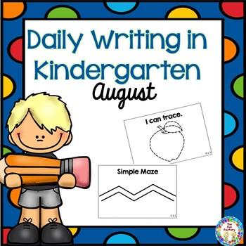 Kindergarten Writing ~ August ~ Free
