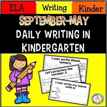 Kindergarten Writing ~ Sept. – May