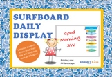 Visual timetable cards (surfboard themed)